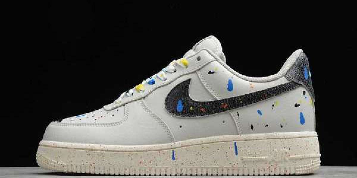 White/Light Blue Fury Space Jam x Nike Air Force 1 Hare 2021